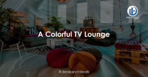 A Colorful TV Lounge