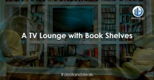 A TV Lounge with Book Shelves