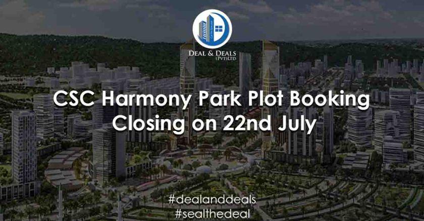 Capital Smart City Harmony Park Plot Booking Closing on 22nd July
