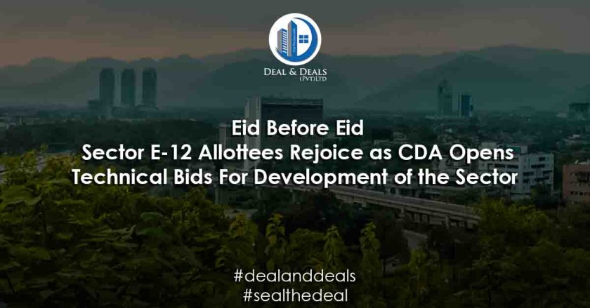 Sector E-12 Allottees Rejoice as CDA Opens Bids For Development of the Sector