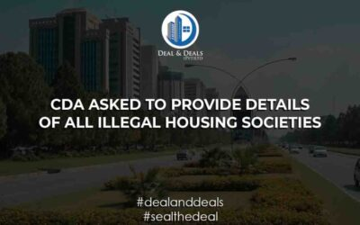 CDA Asked To Provide Details Of All Illegal Housing Societies!