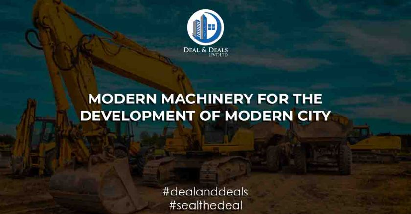 Modern machinery for the development of modern city LAhore SMart City